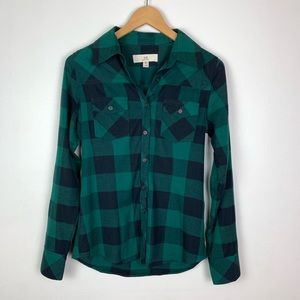 Thread+ Supply | Nordstrom's Green Plaid Button Up